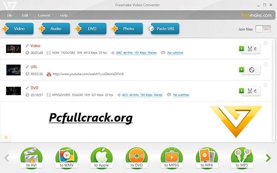 Freemake Video Converter Crack + Key - Pcfullcrack
