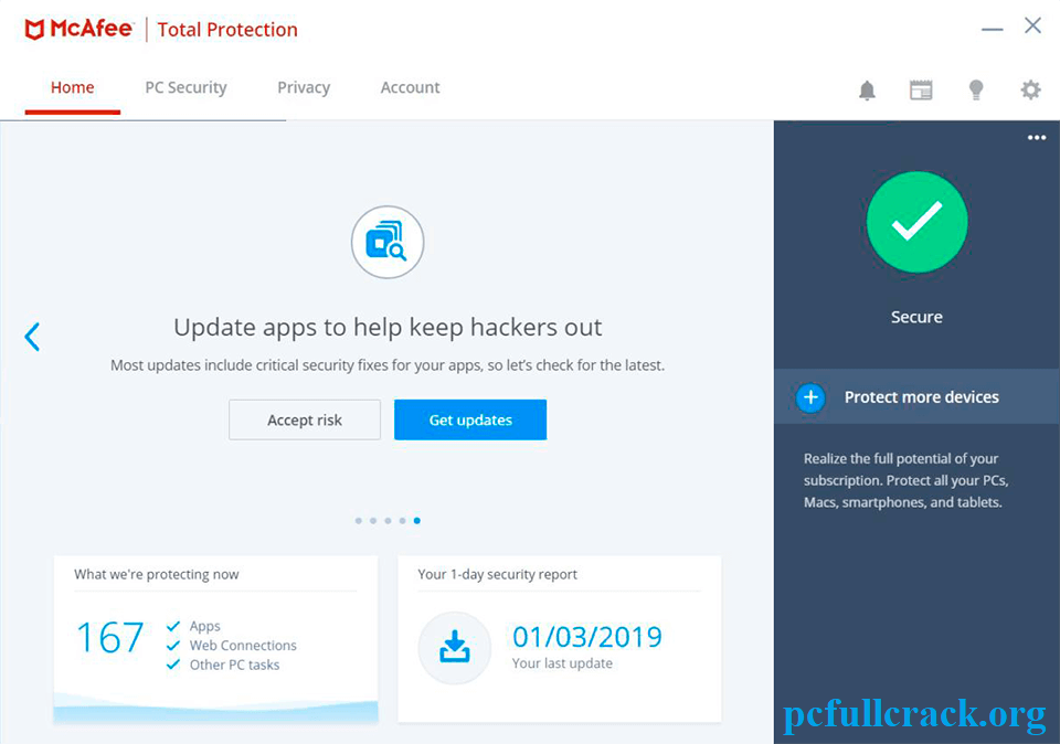 McAfee LiveSafe 16.0 R22 Crack With Activation Key Download