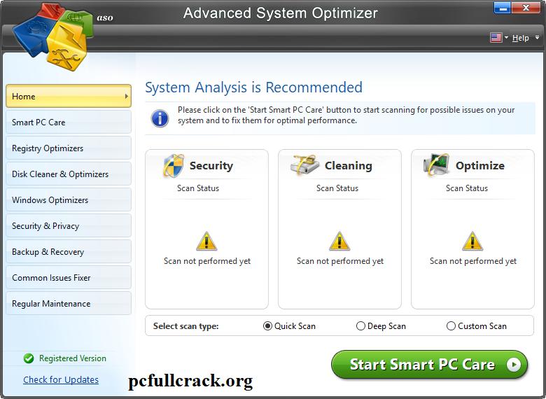 Advanced System Optimizer 3.9.3645.18056 Serial Key + Crack {Lifetime}