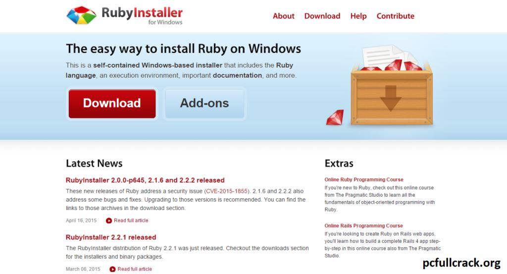 RubyInstaller Crack + Activation Key Download {Latest Version}